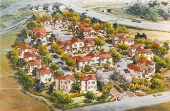 淡路島の町営住宅のイメージイラスト